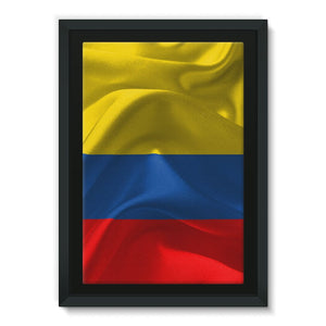 Waving Fabric National Flag Framed Canvas Wall Decor Flagdesignproducts.com