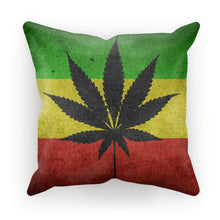 Green Yellow & Red Cannabis Cushion Homeware Flagdesignproducts.com