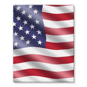 Waving United States Flag Stretched Eco-Canvas Wall Decor Flagdesignproducts.com