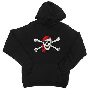 Bones And Skull Pirate Flag College Hoodie Apparel Flagdesignproducts.com