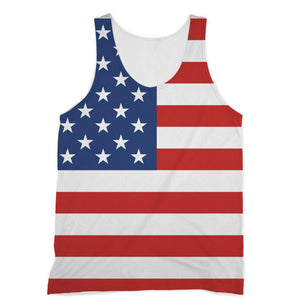 Basic America Flag Sublimation Vest Apparel Flagdesignproducts.com