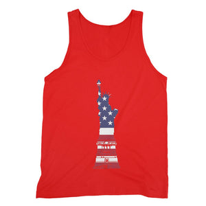 Usa Flag State Of Liberty Fine Jersey Tank Top Apparel Flagdesignproducts.com