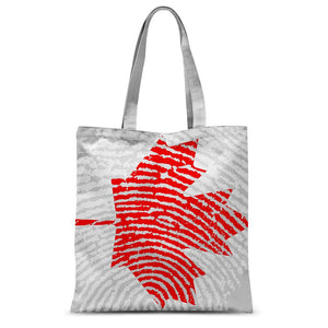 Canada Finger Print Flag Sublimation Tote Bag Accessories Flagdesignproducts.com
