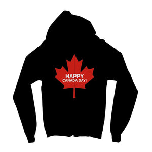 Canada Day Maple Flag Kids Zip Hoodie Apparel Flagdesignproducts.com