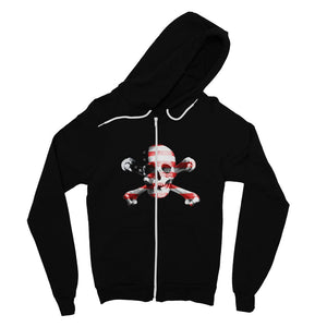 Usa Flag Pirate Fine Jersey Zip Hoodie Apparel Flagdesignproducts.com