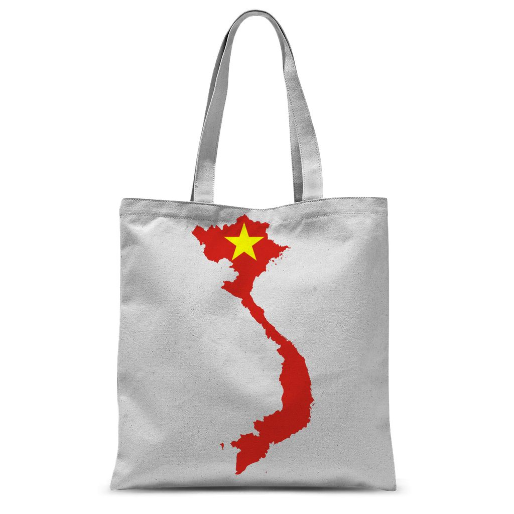 Vietnam Continent Flag Sublimation Tote Bag Accessories Flagdesignproducts.com