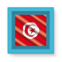 Waving Tunisia Flag Magnet Frame Homeware Flagdesignproducts.com