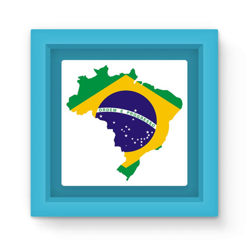Brazil Continent Flag Magnet Frame Homeware Flagdesignproducts.com