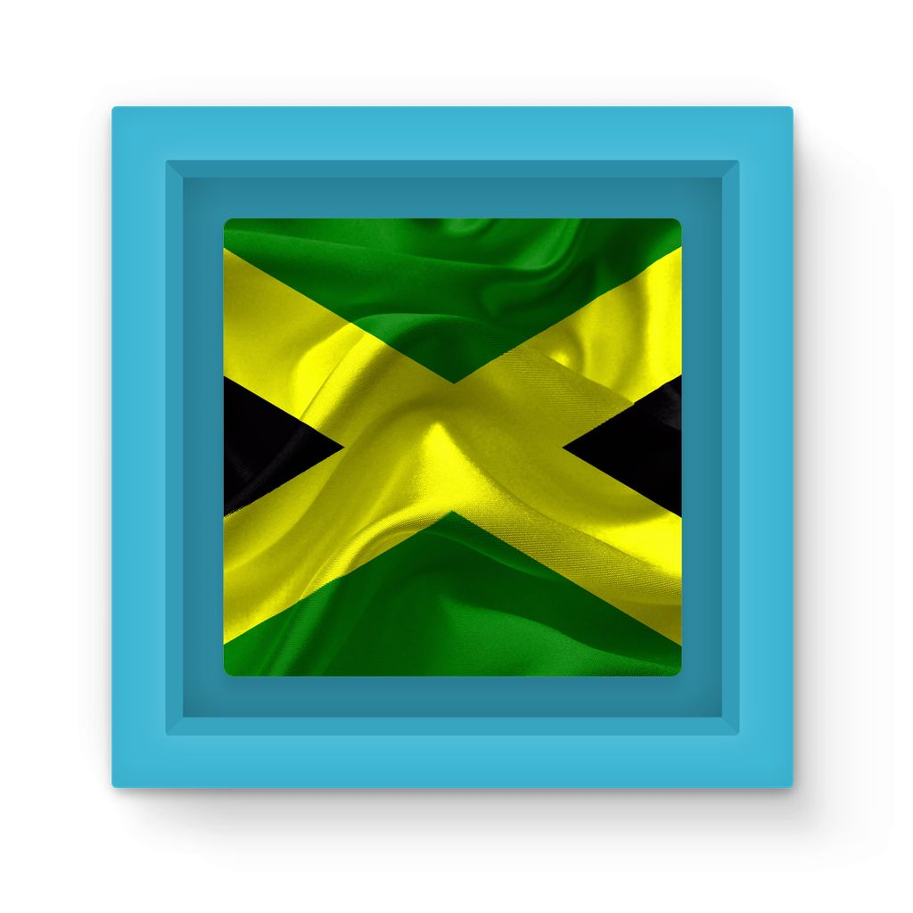 Waving Jamaica Flag Magnet Frame Homeware Flagdesignproducts.com