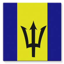 Flag Of Barbados Stretched Canvas Wall Decor Flagdesignproducts.com
