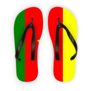 Flag Of Cameroon Flip Flops Accessories Flagdesignproducts.com