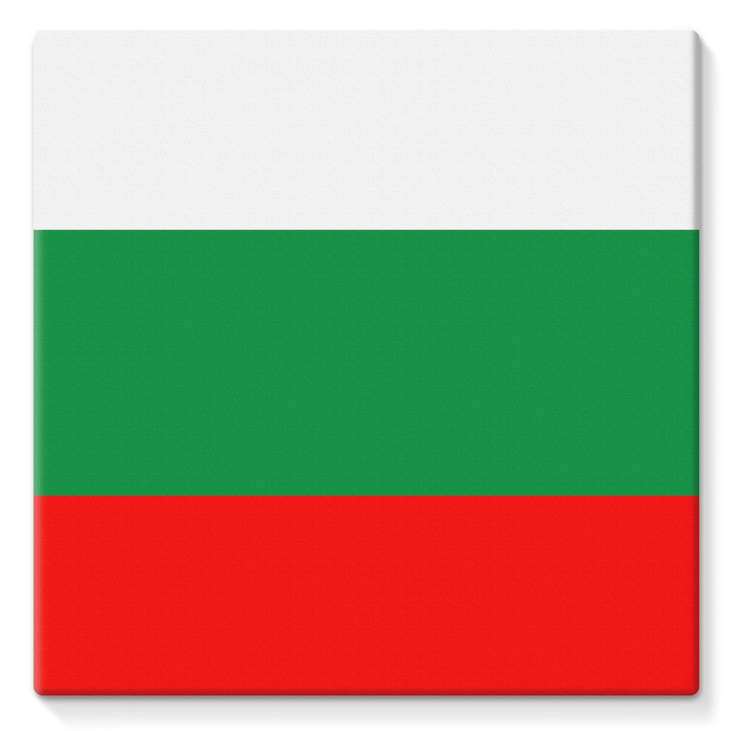 Basic Bulgaria Flag Stretched Eco-Canvas Wall Decor Flagdesignproducts.com