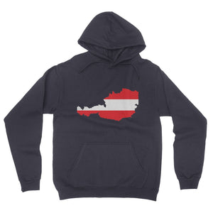 Austria Continent Flag California Fleece Pullover Hoodie