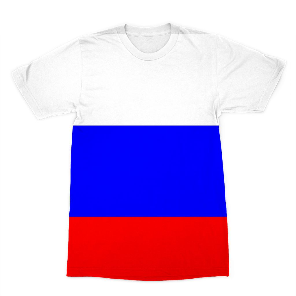 Basic Russian Flag Sublimation T-Shirt Apparel Flagdesignproducts.com