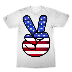 America Fingers Flag Sublimation T-Shirt Apparel Flagdesignproducts.com