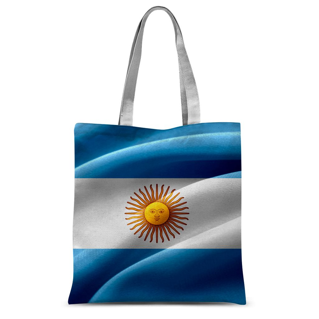 Waving Fabric Argentina Flag Sublimation Tote Bag Accessories Flagdesignproducts.com