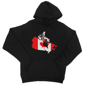Canada Continent Flag College Hoodie Apparel Flagdesignproducts.com
