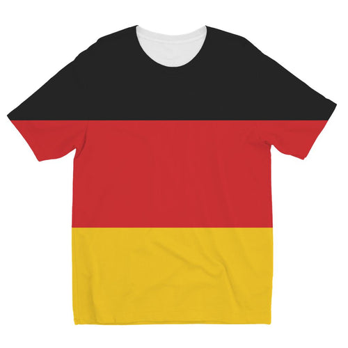 Basic Flag Of Germany Kids Sublimation T-Shirt Apparel Flagdesignproducts.com