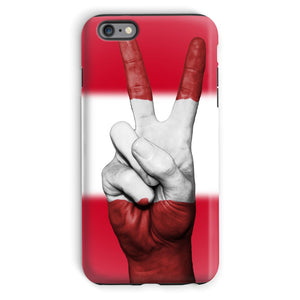 Austria Flag And Hand Phone Case & Tablet Cases Flagdesignproducts.com