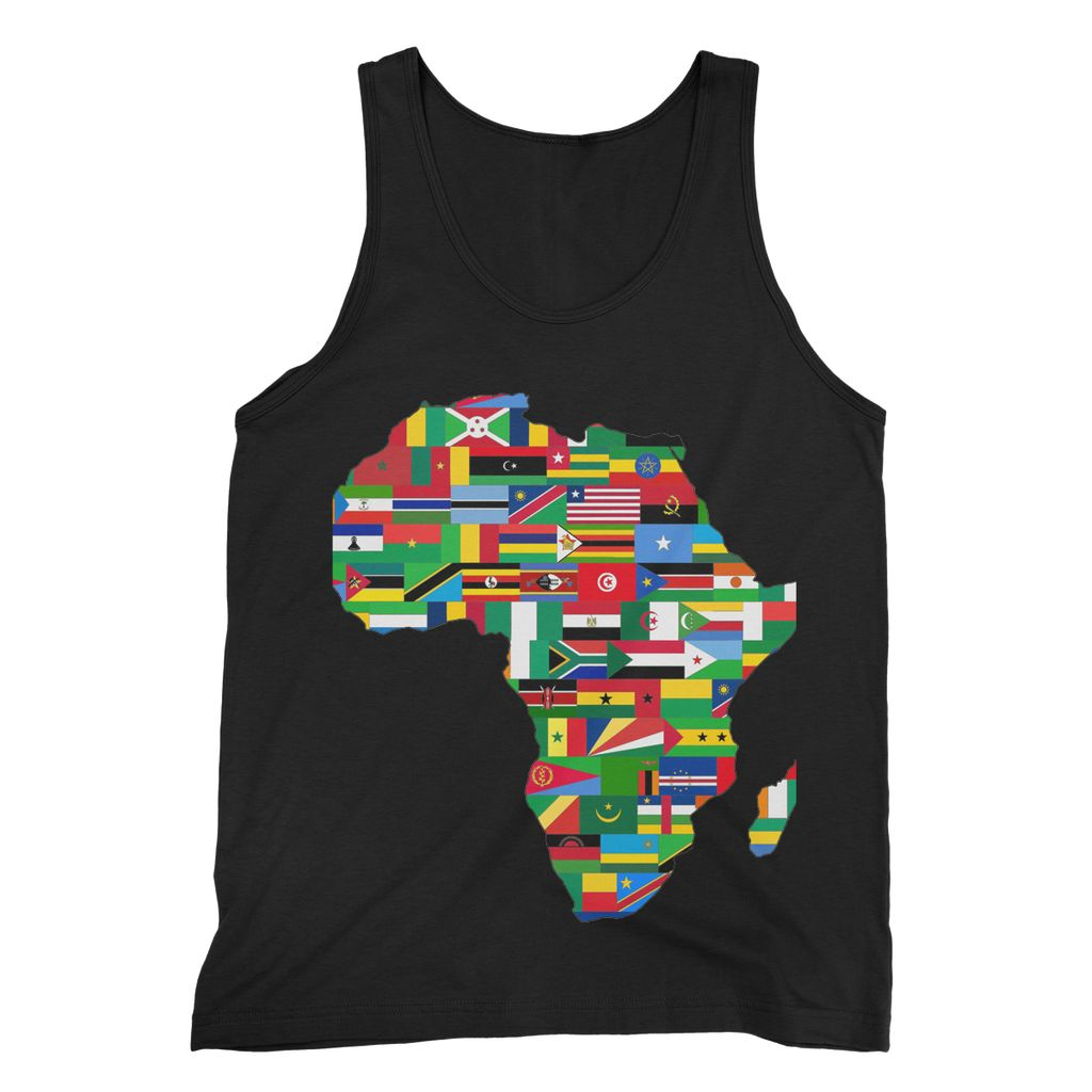 Africa Countries Flag Fine Jersey Tank Top Apparel Flagdesignproducts.com