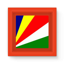 Flag Of Seychelles Magnet Frame Homeware Flagdesignproducts.com