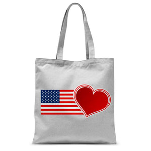 Usa Flag And Heart Sublimation Tote Bag Accessories Flagdesignproducts.com