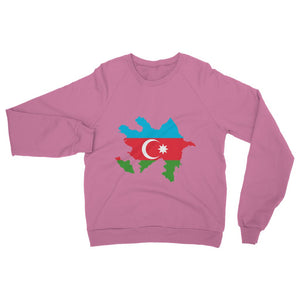 Azerbaijan Continent Flag Heavy Blend Crew Neck Sweatshirt Apparel Flagdesignproducts.com