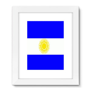 Flag Of Argentina Framed Fine Art Print Wall Decor Flagdesignproducts.com