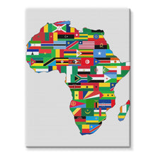 Africa Countries Flag Stretched Canvas Wall Decor Flagdesignproducts.com