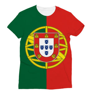 Basic Portugal Flag Sublimation T-Shirt Apparel Flagdesignproducts.com