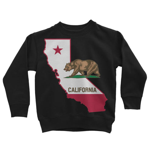 California State Flag Kids Sweatshirt Apparel Flagdesignproducts.com