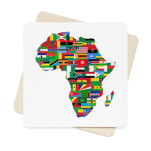 Africa Countries Flag Square Paper Coaster Set - 6Pcs Home Decor Flagdesignproducts.com