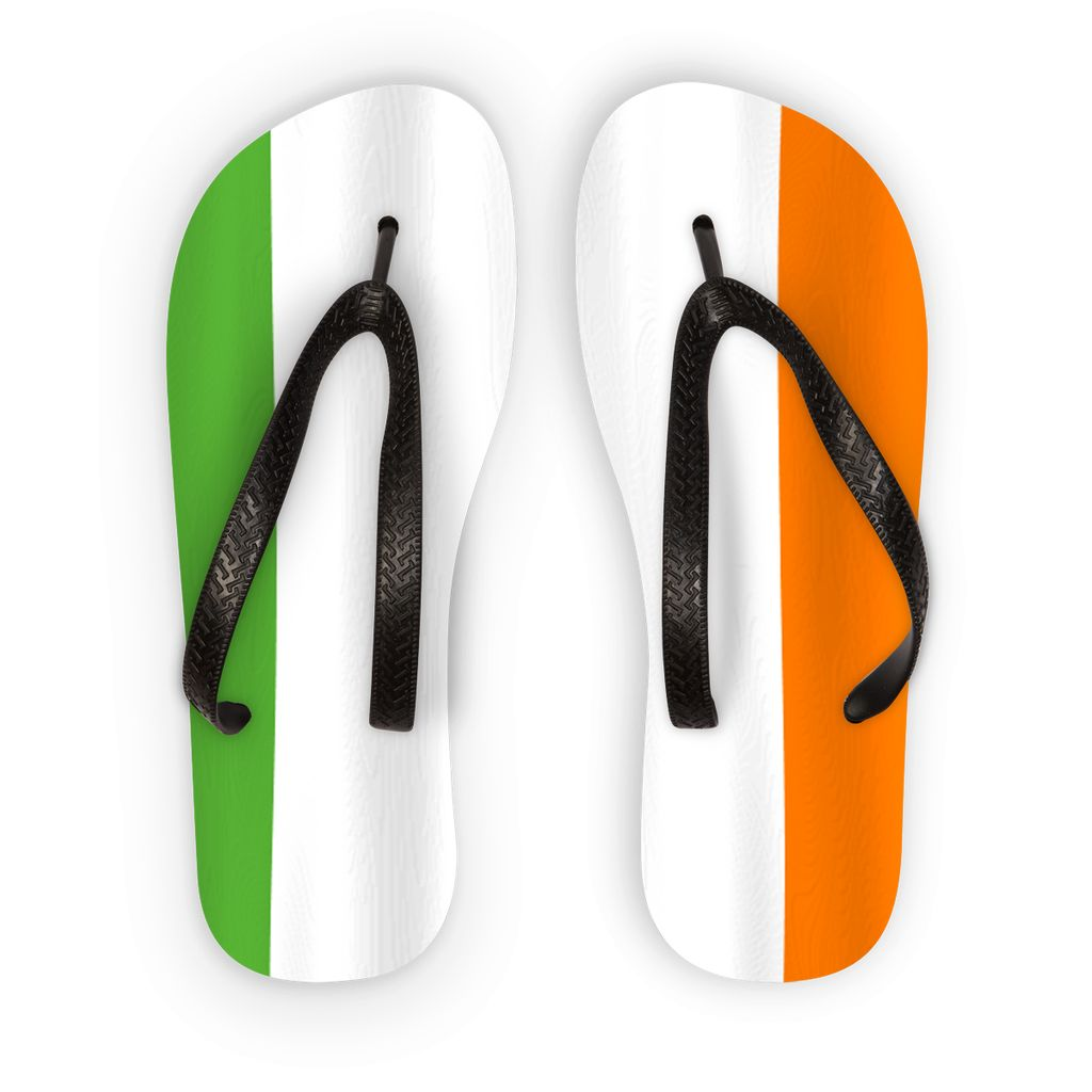 Waving Ireland Flag Flip Flops Accessories Flagdesignproducts.com