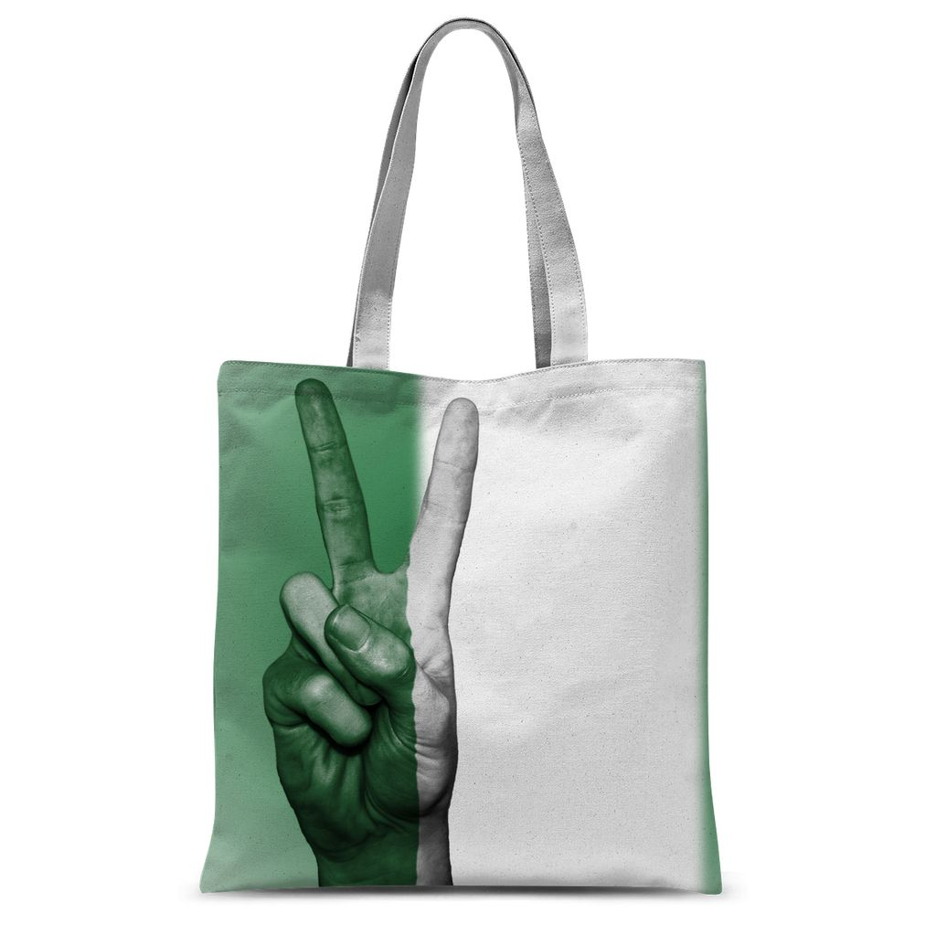Nigeria Fingers Flag Sublimation Tote Bag Accessories Flagdesignproducts.com