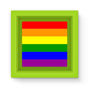 Colorful Rainbow Lgbt Flag Magnet Frame Homeware Flagdesignproducts.com