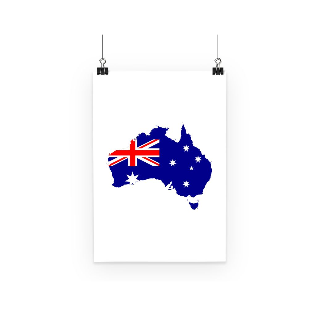 Australia Continent Flag Poster Wall Decor Flagdesignproducts.com