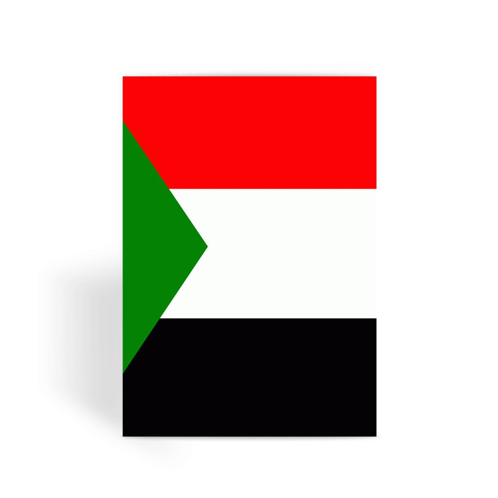Flag Of Sudan Greeting Card Prints Flagdesignproducts.com