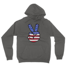 America Fingers flag California Fleece Pullover Hoodie