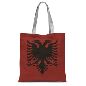 Albania Stone Wall Flag Sublimation Tote Bag Accessories Flagdesignproducts.com