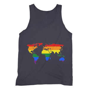 Rainbow Lgbtq World Map Fine Jersey Tank Top Apparel Flagdesignproducts.com