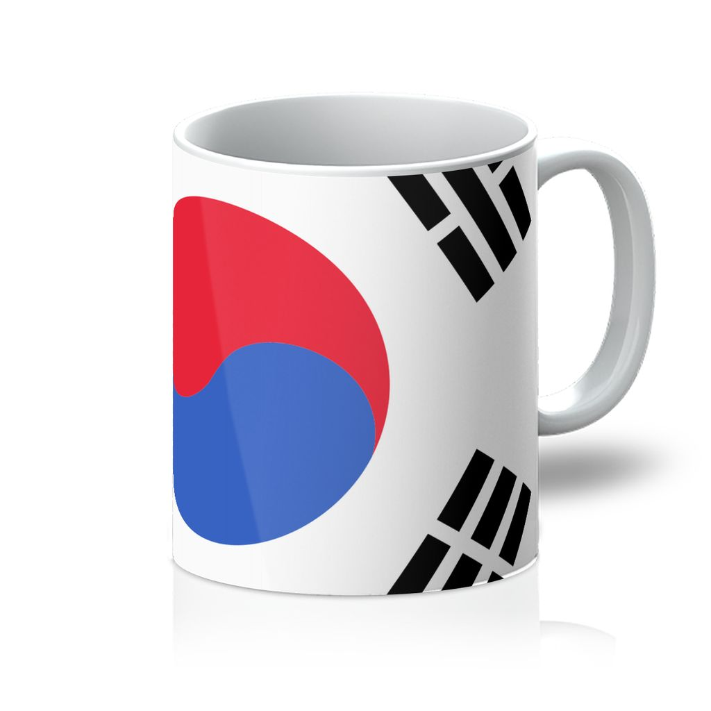 Basic South Korea Flag Mug Homeware Flagdesignproducts.com