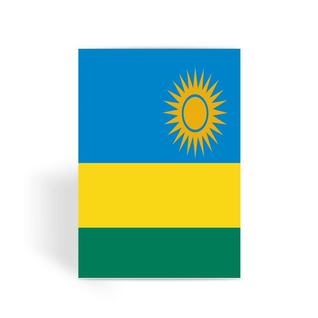 Flag Of Rwanda Greeting Card Prints Flagdesignproducts.com