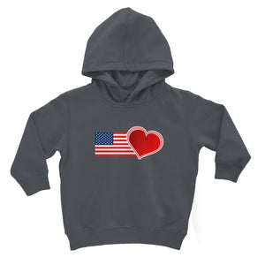 Usa Flag And Heart Kids Hoodie Apparel Flagdesignproducts.com