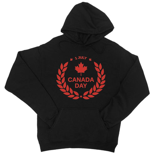 Canada Day Maple Leaf Flag College Hoodie Apparel Flagdesignproducts.com