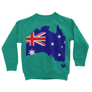 Australia Continent Flag Kids Sweatshirt Apparel Flagdesignproducts.com