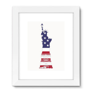 Usa Flag State Of Liberty Framed Fine Art Print Wall Decor Flagdesignproducts.com
