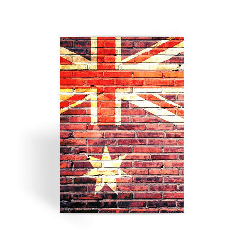 Australia Stone Brick Wall Greeting Card Prints Flagdesignproducts.com