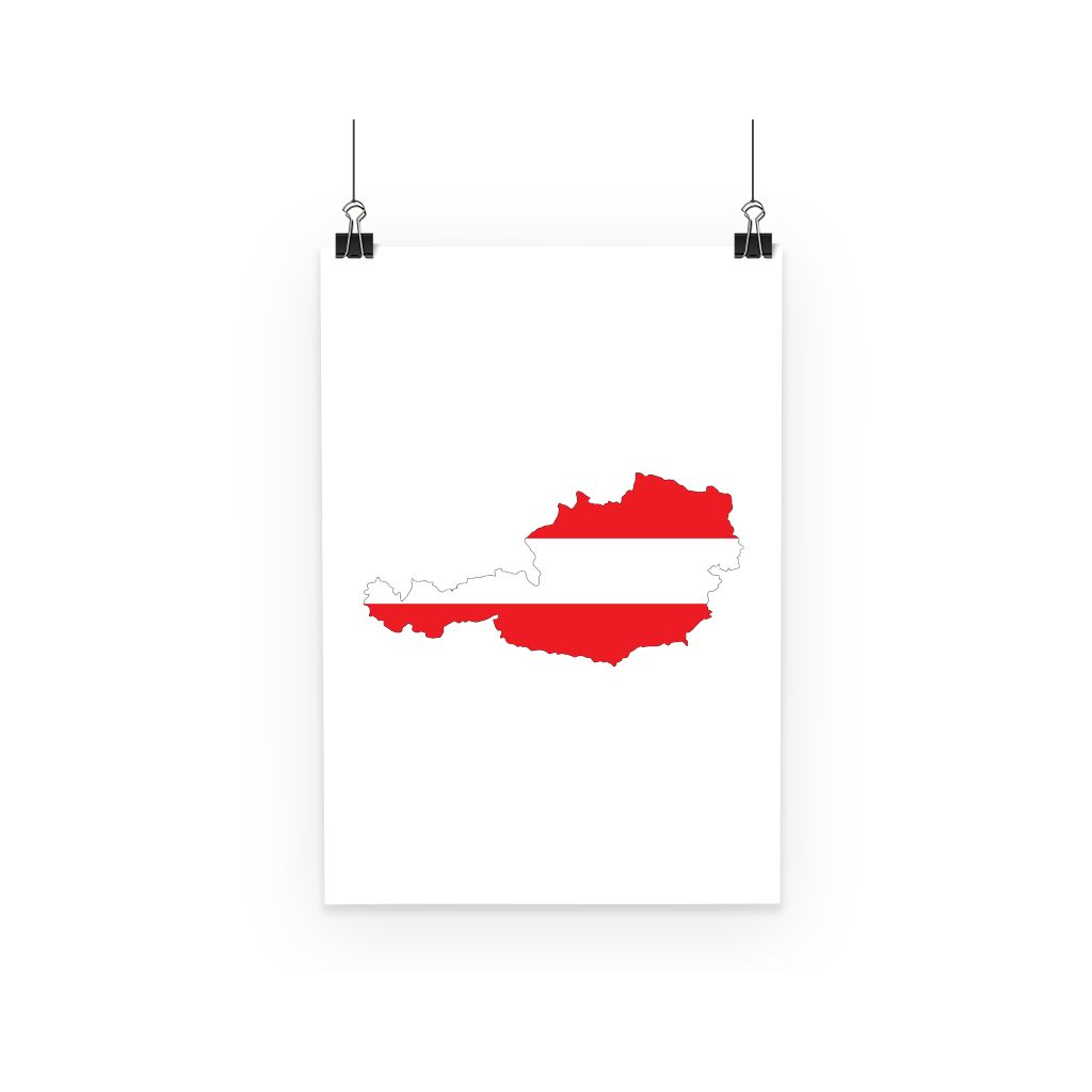 Austria Continent Flag Poster Wall Decor Flagdesignproducts.com