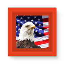 American Eagle And Usa Flag Magnet Frame Homeware Flagdesignproducts.com