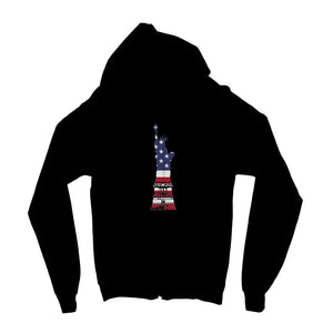 Usa Flag State Of Liberty Kids Zip Hoodie Apparel Flagdesignproducts.com